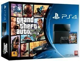 Sony PlayStation 4 (500GB) (CUH-1208A) + игра Grand Theft Auto 5 (GTA5)
