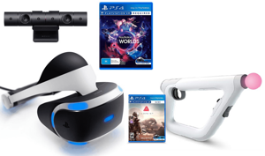 Очки Sony PlayStation VR (CUH-ZVR2) + PlayStation Camera + игра VR Worlds + игра Farpoint + Aim Controller