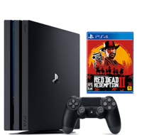 Sony PlayStation 4 Pro (1TB) (CUH-7216B) + игра Red Dead Redemption 2
