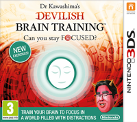 Игра Dr Kawashima's Devilish Brain Training: Can you stay focused? (3DS)